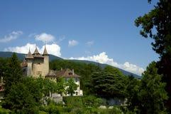 Castillo en los árboles Foto de archivo