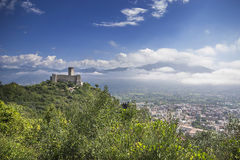 Castillo en Monte Cassino Imágenes de archivo libres de regalías