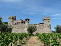 Castillo en Napa Valley Fotografía de archivo libre de regalías