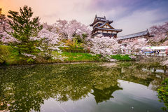 Castillo en Nara Japan fotografía de archivo