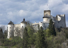 Castillo en Nidzica foto de archivo