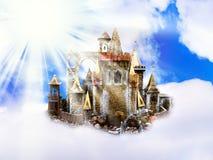 Castillo en nubes imagen de archivo libre de regalías