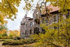 Castillo en otoño, Letonia de Cesvaine fotografía de archivo libre de regalías