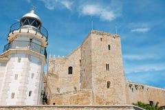 Castillo en Peniscola, España de papa Luna Fotos de archivo