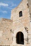 Castillo en Peniscola, España de papa Luna Foto de archivo