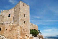 Castillo en Peniscola, España de papa Luna Imagen de archivo libre de regalías