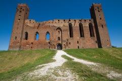 Castillo en Radzyn Chelminski, Polonia Imagen de archivo