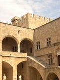 Castillo en Rodas Fotos de archivo libres de regalías