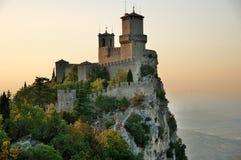 Castillo en San Marino Foto de archivo libre de regalías