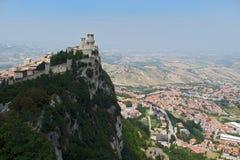 Castillo en San Marino Imagen de archivo libre de regalías