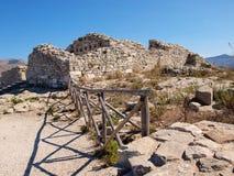 Castillo en Segesta, Sicilia, Italia Foto de archivo libre de regalías