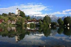 Castillo en Suiza Fotografía de archivo libre de regalías