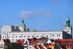 Castillo en Szczecin Foto de archivo