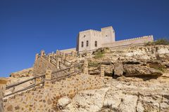 Castillo en Taqah imagen de archivo