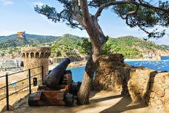 Castillo en Tossa de Mar, España Imágenes de archivo libres de regalías