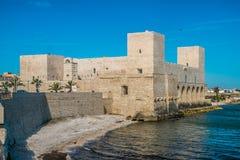 Castillo en Trani, Italia Imagen de archivo libre de regalías