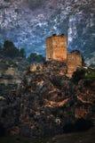 Castillo en una montaña Imagen de archivo libre de regalías