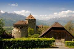 Castillo en Vaduz Imágenes de archivo libres de regalías