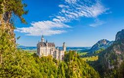 Castillo en verano, Baviera, Alemania de Neuschwanstein imagen de archivo