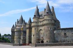 Castillo en Vire en Normandía (Francia) en julio de 2014 Foto de archivo