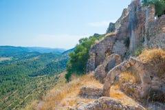 Castillo encima de una colina Fotografía de archivo libre de regalías