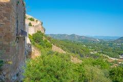 Castillo encima de una colina Imagen de archivo libre de regalías