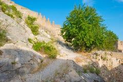 Castillo encima de una colina Imagen de archivo