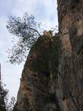 castillo encima de una pared de piedra natural foto de archivo libre de regalías