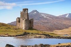 Castillo escocés arruinado Imagen de archivo libre de regalías