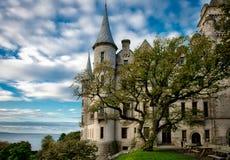 Castillo Escocia de Dunrobin foto de archivo
