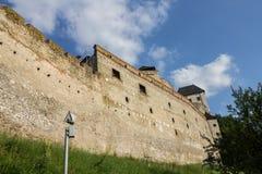 Castillo Eslovaquia de Trencin Foto de archivo