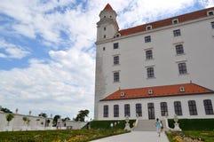 Castillo Eslovaquia - uso editorial de Bratislava solamente Imagenes de archivo