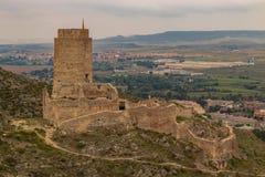 Castillo español viejo del castillo de Cadrete ' imagen de archivo libre de regalías