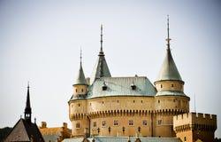 Castillo fabuloso de Bojnice Fotos de archivo libres de regalías