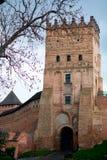 Castillo famoso en Lutsk Imagen de archivo