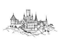 Castillo famoso en Sajonia, Alemania Edificio alemán del castillo de la señal