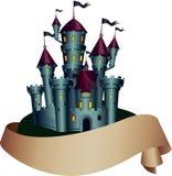 Castillo fantasmagórico oscuro ilustración del vector