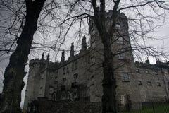 Castillo fantasmagórico oscuro antiguo en Kilkenny Irlanda Fotografía de archivo