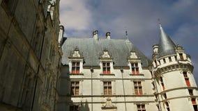 Castillo francés Azay-le-Rideau (fue construido a partir de 1515 a 1527), el Loira, Francia metrajes