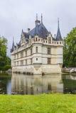 Castillo francés Azay-le-Rideau, los chateaux franceses más tempranos imagen de archivo libre de regalías