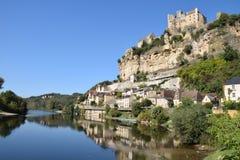 Castillo francés Beynac Foto de archivo