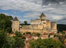 Castillo francés Castelnaud - Francia Foto de archivo libre de regalías
