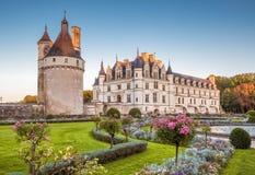 Castillo francés (castillo) de Chenonceau, Francia imágenes de archivo libres de regalías