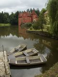 Castillo francés Cervena Lhota, checo Fotografía de archivo