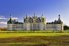 Castillo francés Chambord Castillo de Chambord fotos de archivo libres de regalías
