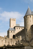 Castillo francés Comtal Carcasona imagen de archivo libre de regalías