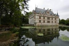 Castillo francés d'Azay-le-Rideau Imagen de archivo