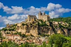 Castillo francés de beynac Francia Imagen de archivo
