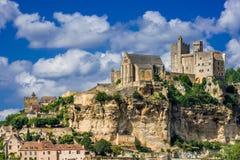 Castillo francés de beynac Francia Foto de archivo libre de regalías