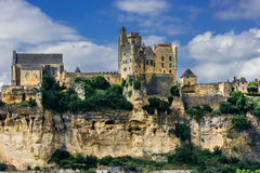 Castillo francés de beynac Francia Fotografía de archivo